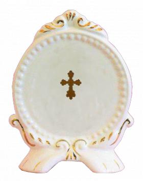 """Декоративный фарфоровый медальон """"Богородица"""""""