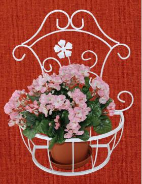 Подставка для цветов подвесная настенная, большая, Кармен 001/PCPM02B/1235