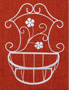 Подставка для цветов подвесная настенная, малая, линия Кармен 001/PCPM01M/1234