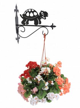 """Декоративный настенный кронштейн для подвесных цветов """"Черепашка"""" 001/PPS-66/476"""