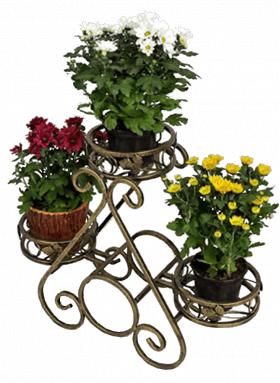"""Подставка для  цветов на 3 вазона """"Тюльпан"""" 001/ПИР3/62"""
