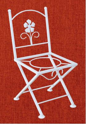 Подставка для цветов на один вазон Кармен, стул 2, 001/PS03/1243