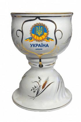"""Музыкальный фарфоровый кубок малый """"Украина. Геральдика"""""""