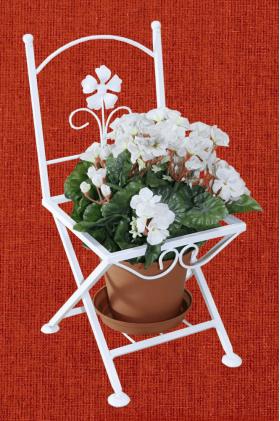 Подставка для цветов на один вазон Кармен, стул 1, 001/PS01/1241