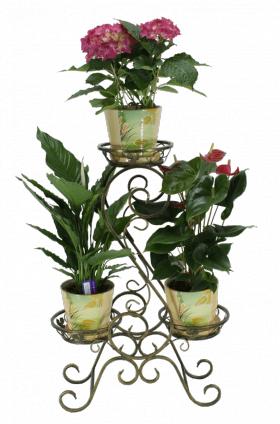 "Подставка для цветов на 3 вазона ""Доллар"" 001/ГВАЛ3/39"
