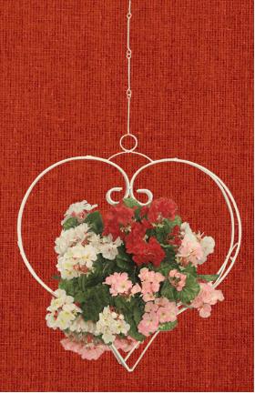 """Подставка для цветов подвесная """"Свадебное сердце"""" 001/ПС1/587"""