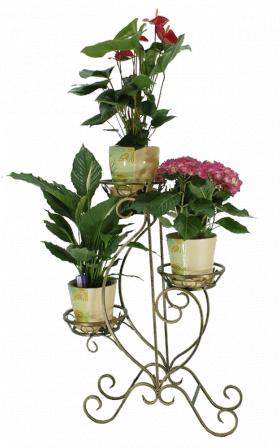 "Подставка для цветов на 3 вазона ""Пламя"" 001/ПАР3/61"