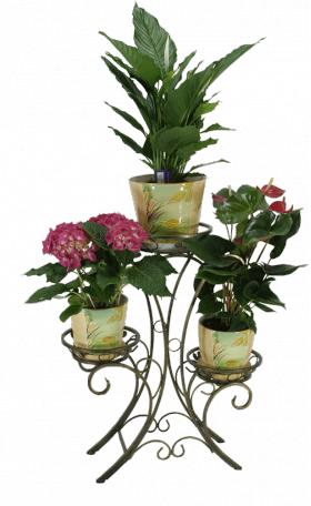 """Подставка для цветов на 3 вазона """"Лилия"""" 001/ЛОТ3/55"""