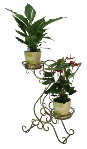 "Подставка для цветов на 2 вазона ""Доллар"" 001/ГВАЛ2/38"
