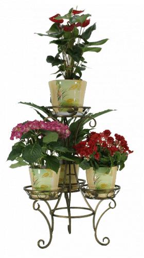 "Подставка для цветов на 4 вазона ""Пешка"" 001/ТУР4/93"