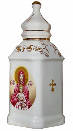 """Фарфоровый сосуд для освященной воды """"Богородица"""""""