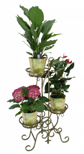 """Подставка для цветов на 3 вазона """"Нота"""" 001/ГСК3/70"""