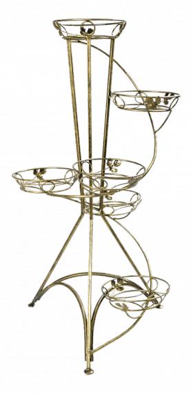 Напольная подставка для цветов на 6 вазонов Спираль 6