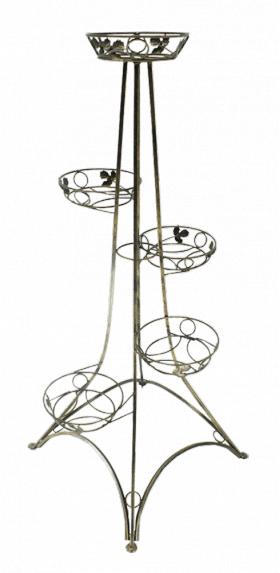 Напольная подставка для цветов на 5 вазонов Эйфелева башня 5