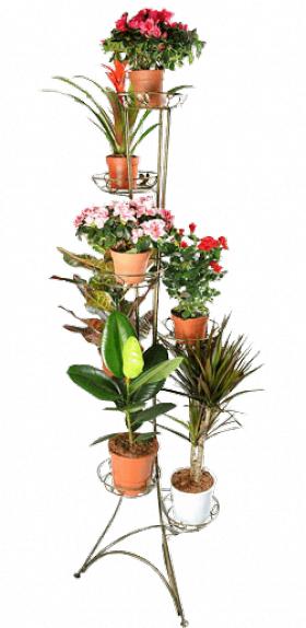 Напольная подставка для цветов на 7 вазонов Стойка 7