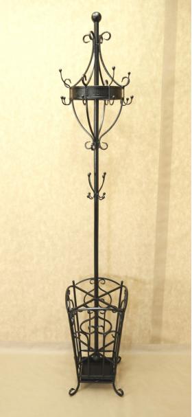Вешалка кованая напольная с корзиной под зонт 005/VECH5/1512