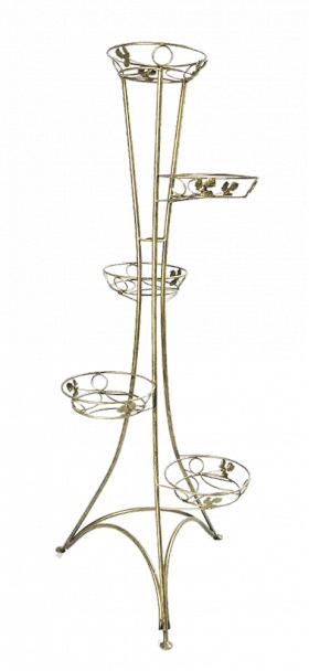 Напольная подставка для цветов на 5 вазонов Стойка 5