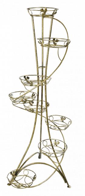 Напольная подставка для цветов на 8 вазонов Спираль 8