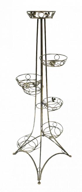 Напольная подставка для цветов на 7 вазонов Эйфелева башня 7
