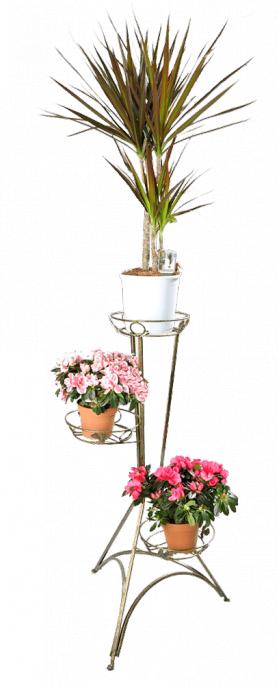 Напольная подставка для цветов на 3 вазона Стойка 3