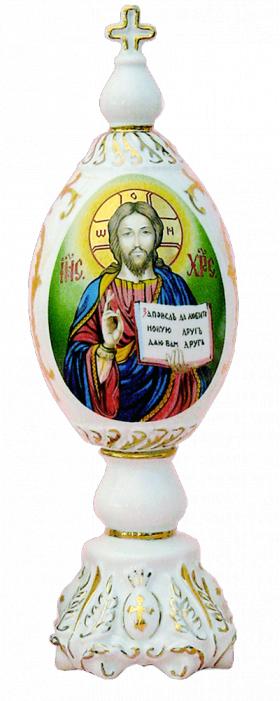 "Фарфоровое декоративное яйцо ""Сын Божий"""
