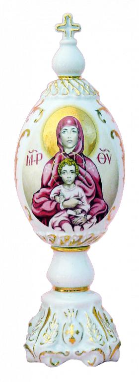 "Фарфоровое декоративное яйцо ""Богородица"""
