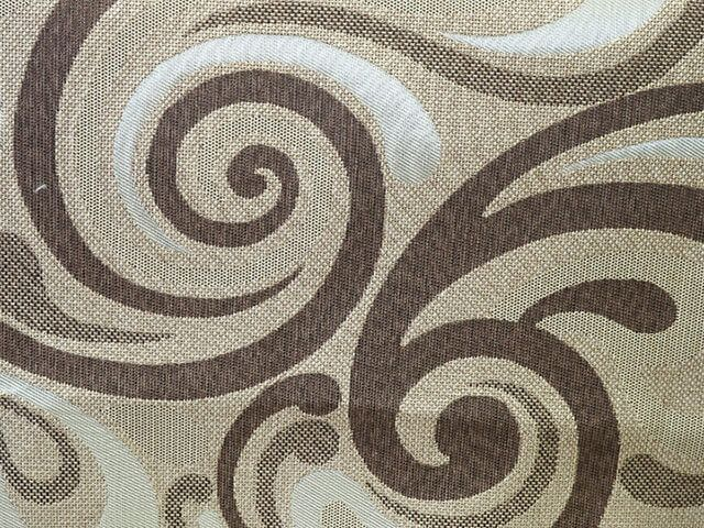 ткань ажур коричневый